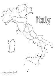 Italian Map Map Of Italy Coloring Page Print Color Fun And Italian Pages