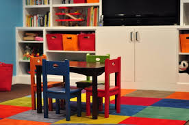 playroom table with storage small colorful chairs and table for kids front large white cabinet