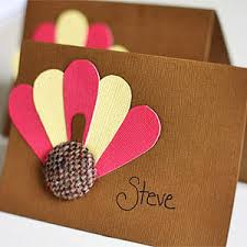 thanksgiving decorations can make place cards