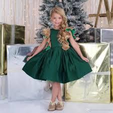adorable emerald green a line knee length flower dress