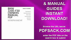 bmw 320d f30 owners manual pdf video dailymotion