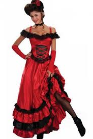 Gypsy Halloween Costumes Deluxe Red Saloon Gypsy Halloween Costume Pink Queen