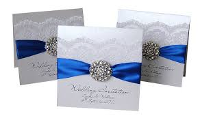Royal Blue And Silver Wedding Wedding Invitation 25 Royal Blue And Silver Wedding By Amiradesign
