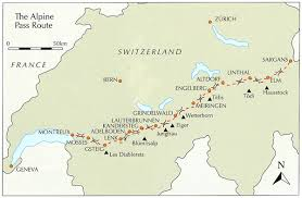 map of montreux alpine pass route stanfords