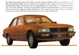peugeot cars 1980 1980 peugeot 505 brochure