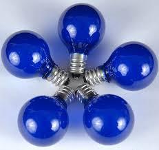 satin blue g30 5 watt replacement ls 25 pack novelty lights inc