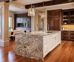 kitchen island with beautiful waterfall kitchen islands countertop designs