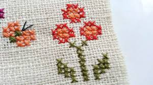 how to create simple cross stitched flowers diy crafts tutorial