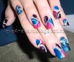 love4nailart tri color abstract nail art