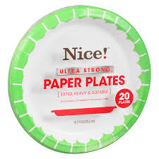 paper plates ultra strong paper plates 10 1 16in walgreens