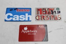 applebee s gift cards starbucks costco applebees gift cards 3 pieces property room
