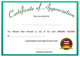 award certificate samples 11 printable certificates of appreciation for teachers best