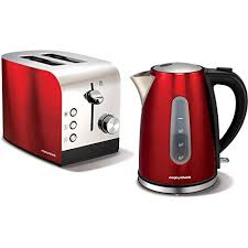 Morphy Richards Accent Toaster Red Redkettleandtoastersetsuk
