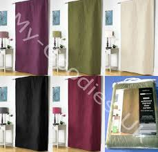 Door Draft Curtain Thermal Door Curtain Plain Modern Heavy Draught Draft Ebay
