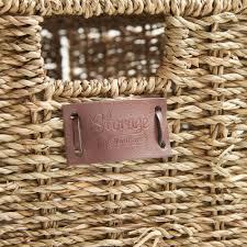 vonhaus set of 4 seagrass storage baskets with lids u0026 insert handles