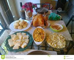 traditional thanksgiving dinner stock photo image 42666716