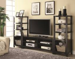 3pc Living Room Set Coaster Furniture 700697 800355 3 Pc Entertainment Wall Unit