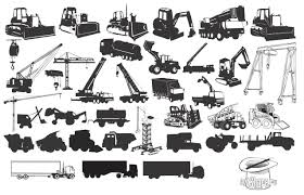 jeep front silhouette 30 construction machines silhouettes silhouettes vector