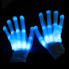Light Halloween Costumes Skeleton Led Light Gloves Halloween Costumes