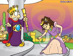 christian cartoon bible story illustrations queen esther