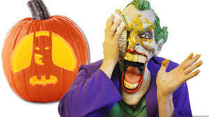 joker makes a disgusting pumpkin pie from batman jack o u0027 lantern