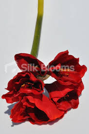 Silk Amaryllis Flowers - shop artificial amaryllis flower stem in red colour silk