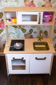 easy ikea duktig play kitchen makeover food fun kids