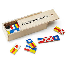 Wooden Nautical Flags Nautical Flag Dominoes Strategy Games Uncommongoods