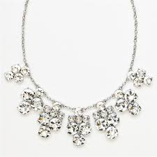 crystal silver necklace images Long silver sparkly necklace best necklace 2017 jpg