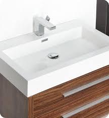 Modern Walnut Bathroom Vanity by 29 5 U201d Fresca Livello Fvn8030gw Walnut Modern Bathroom Vanity W