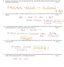 chapter 12 stoichiometry practice problems worksheet answers 28