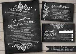 Pinterest Chalkboard by Classy Chalkboard Wedding Invitation Suite By Seenikkicreate