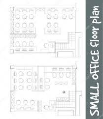 bureau standard symboles de mobilier de bureau standard sur plans d étage image