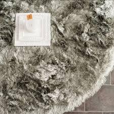 paris shag rugs silver plush pile shag safavieh com