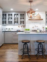 modern l shaped kitchen knobs drawer ceramic tile backsplash small gray kitchen island