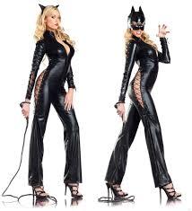 Halloween Kitty Costumes Leather Face Women U0027s Halloween Costume Cosplay Femme
