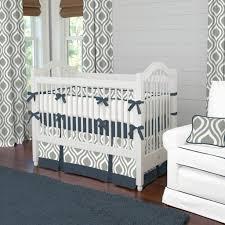 Baby Boy Chevron Crib Bedding Solid Light Blue Crib Bedding Linen Chevron Baby Boy Elephant