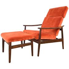Lounge Ottoman Arne Vodder For Rosewood Reclining Lounge Chair And