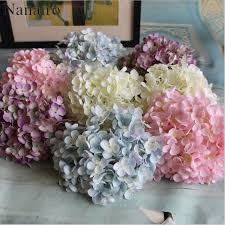 silk hydrangea 176 petal flower cheap artificial hydrangea flower diy silk