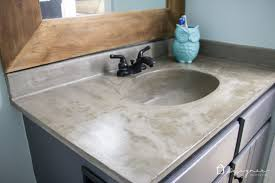 how to build a concrete sink how s it holding up diy concrete vanity update designertrapped com