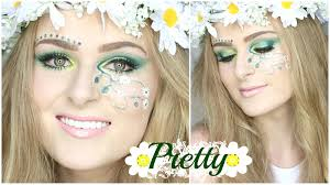 pretty halloween makeup floral fairy festival look youtube