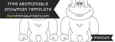 abominable snowman template u2013 medium