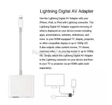 8 pin lightning to digital av adapter hdmi cable for iphone 8 7 6 6s ipad air pro mini new