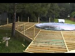 deck around above ground pool round designs