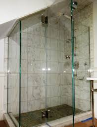 Angled Glass Shower Doors Angled Ceiling Frameless Applications Cold Shower Doors