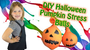 diy halloween squishy stress balls pumpkin arts and crafts