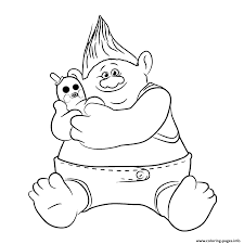 biggie trolls movie coloring pages printable
