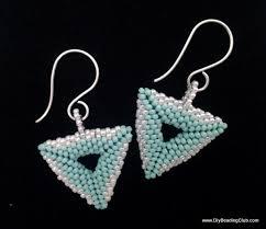 diy beading 3d beaded triangle earrings tutorial beadweaving