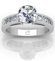 channel engagement ring princess cut channel set engagement ring platinum engagement