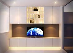 Put The Wall Of The Fireplace In Black And Behind The Tv White - Contemporary fitted living room furniture